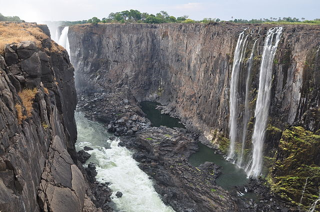 Victoria Falls during dry season